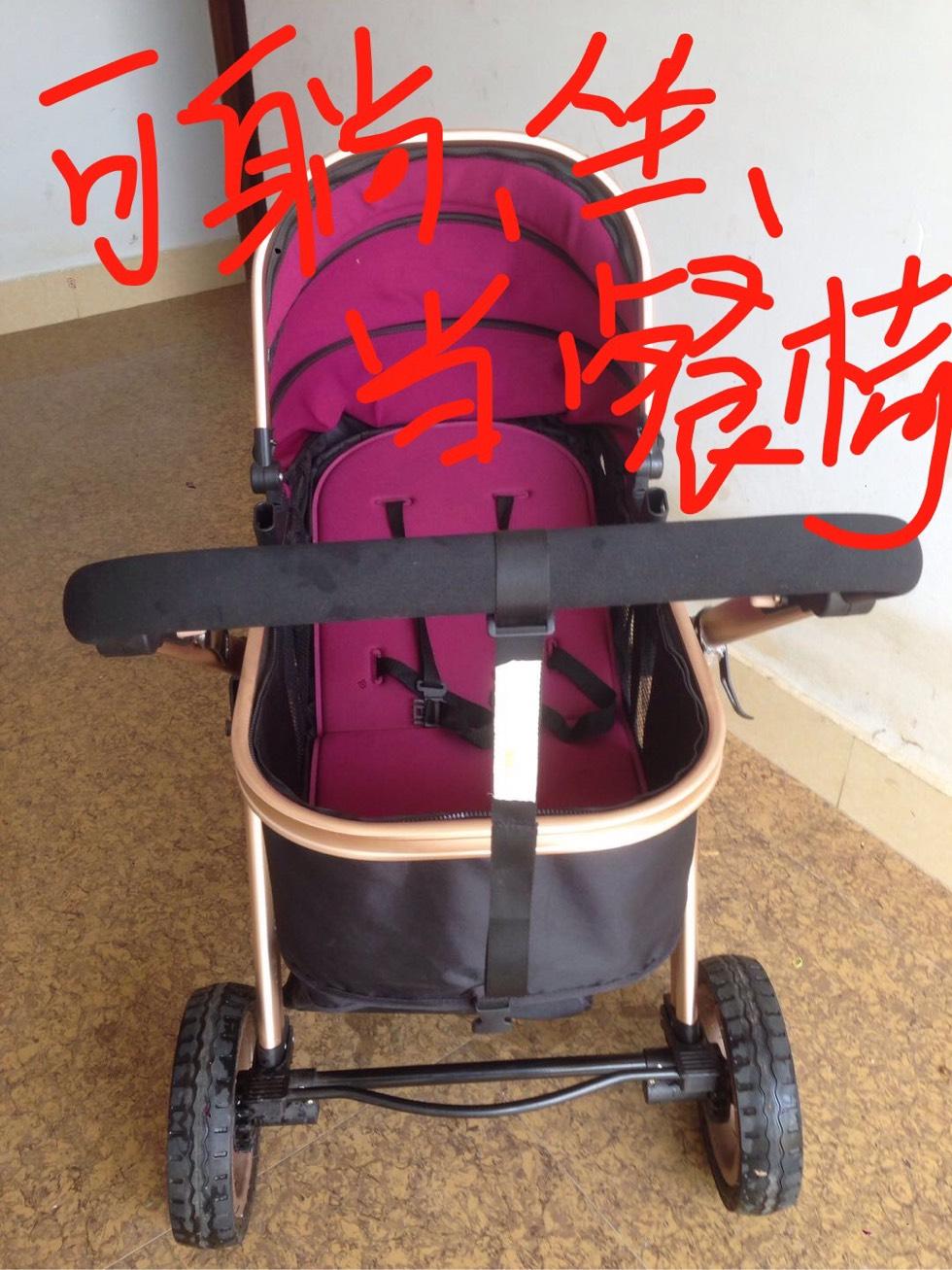 小宝宝可躺可坐可当餐椅折叠车,车轱辘减震超级好。九成新!需要的速来