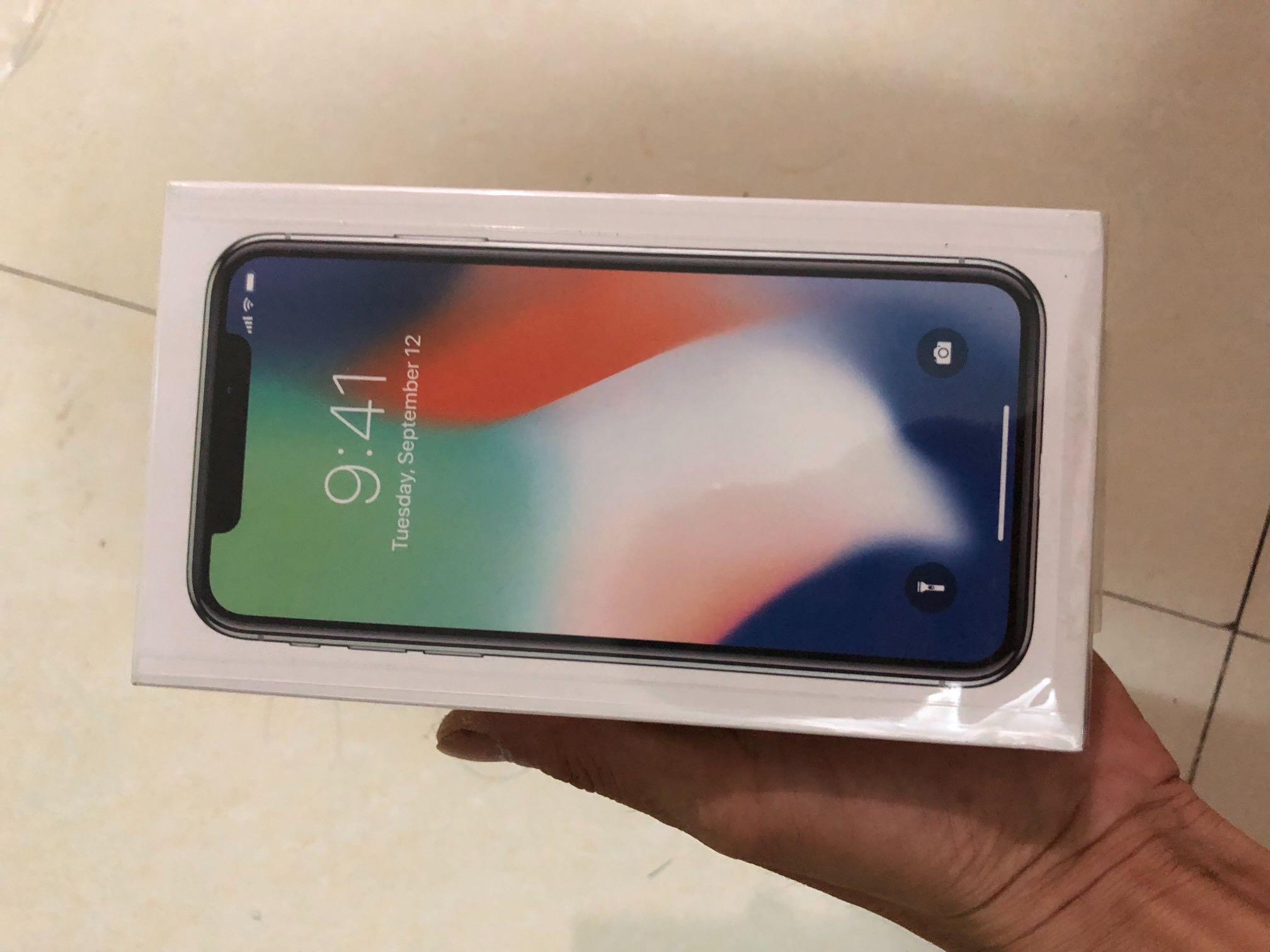 昨天买的崭新的苹果X低价出售