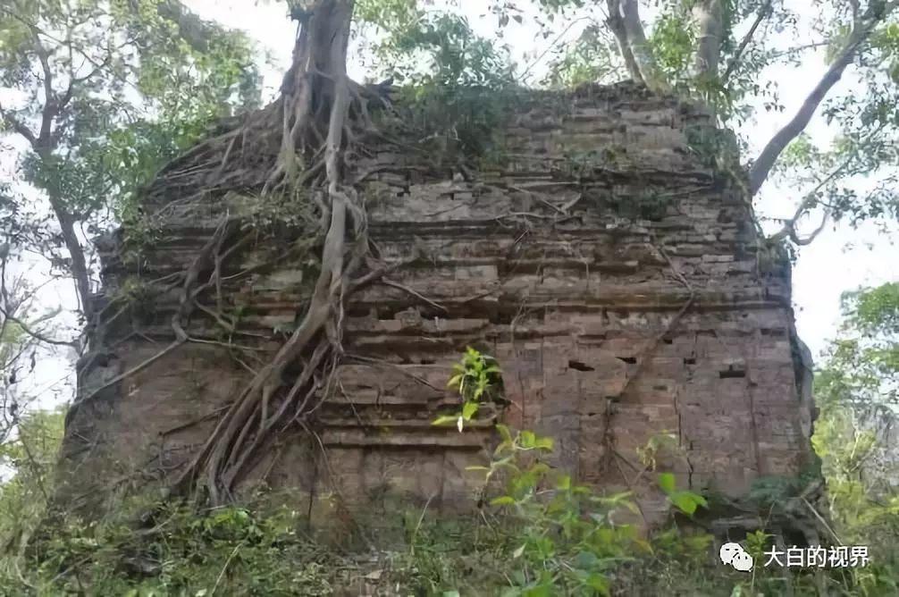 茂密森林中的寺庙三波坡雷古