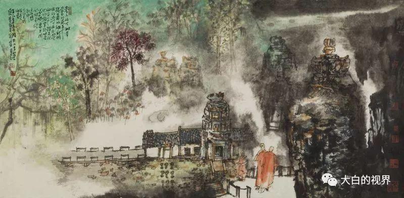 山东画院贾荣志《吴哥印象》写生作品欣赏