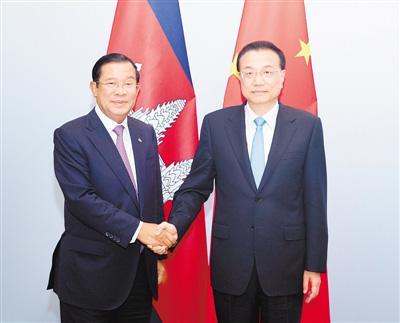 快讯|李克强会见柬埔寨首相洪森