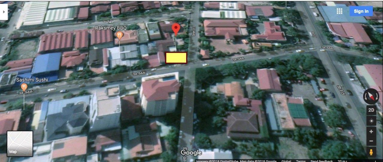 商业用地出售-598平方米-4,347美元/平方米BKK2公社,金边
