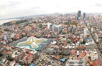 航拍柬埔寨金边,在建高楼不少,大部分被中国开发商承建